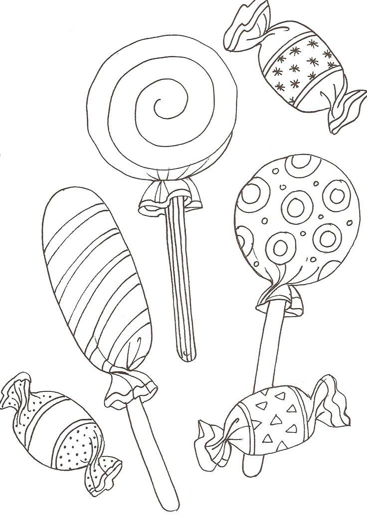 Kleurplaat blog zonder naam - Bonbons dessin ...